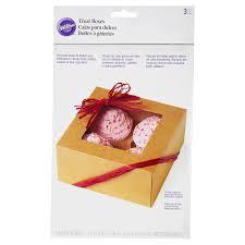 wilton 4 cavity cupcake box kraft 3 count meijer com