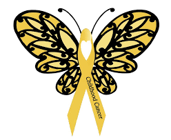 childhood cancer awareness month wear a gold ribbon and
