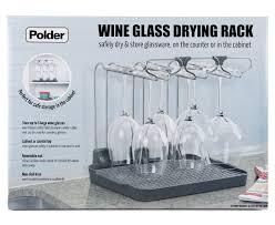 polder wine glass drier storage rack grey ebay