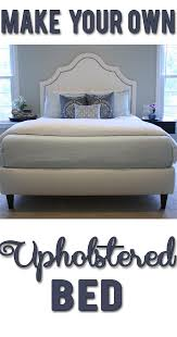diy upholstered bed includes materials list costs and complete