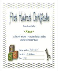 haircut certificate template 5 free pdf documents download