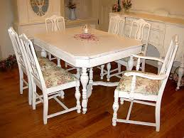 beautiful antique dining room table and 6 chairs oh so shabby