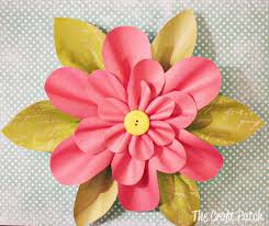 the craft patch paper flower tutorial