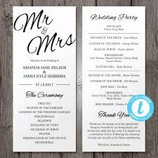tri fold wedding program templates 18 tri fold wedding programs templates