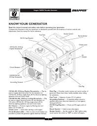 know your generator snapper 5600 user manual page 5 28
