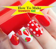make strawberry nails art 7 easy steps tutorial pictures u0026 video