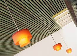 Wood Slat Ceiling System by Los Angeles Modern Restaurant Design By Dutton Architects