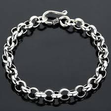 chain bracelet sterling silver images Men 39 s sterling silver rolo chain bracelet jpg