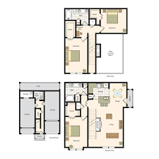 3 bedroom 2 bath floor plans floor plans village on memorial luxury town home living in the