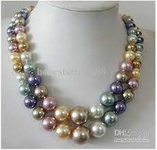coloured pearl necklace images 2018 2 row 8 14mm south sea multicolor shell pearl necklace from jpg