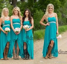 turquoise wedding dresses modest teal turquoise bridesmaid dresses 2016 cheap high low