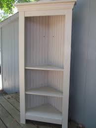 tall corner bookcase white stained oak wood corner bookshelf having straight profile f