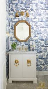 Toile Bathroom Wallpaper by Blue And White Chinoiserie Chic Chinoiserie Chinoiserie Chic