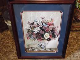 Beautiful Home Interiors Vase Of Flowers Picture Wood Frame - Home interior frames