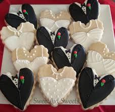 wedding cookies wedding cookies and groom heart cookies 1 dozen