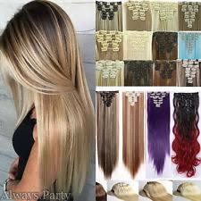 clip in hair extensions for hair colored clip in hair extensions ebay