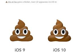 ice cream emoji the poo emoji looks different and other important ios 10 changes
