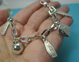 jewelry sterling charm bracelet images Tiffany co authentic retired 1837 5 charm bracelet 925 sterling jpg
