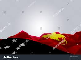 New Guinea Flag Royalty Free Waving Abstract Fabric Papua New Guinea U2026 293339261