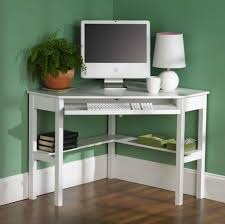 Small Contemporary Desks by Simple White Corner Computer Desk Design For Small Spaces Modern