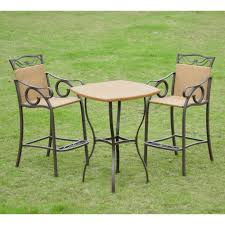 patio bar height dining set patio furniture white bistro sets patioiture outdoor kroger bar