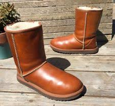 s ugg australia lodge boots ugg australia lodge chestnut 1007710 water resistant leather laced