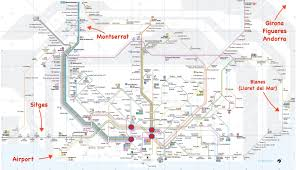 Barcelona Subway Map by Barcelona Maps Maps Of Barcelona With Tourist Attractions And