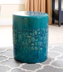 garden stools bali teal ceramic garden stool