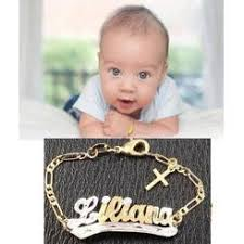 gold baby name bracelets personalized 14k gold name id baby bracelet