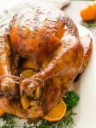 and flavor turkey brine brined orange rosemary roasted turkey flavor the moments