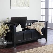 Indoor Wood Storage Bench Plans by Hunter Storage Bench Black Indoor Benches At Benches Ideas