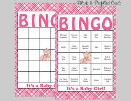 100 baby shower bingo cards 100 prefilled bingo cards
