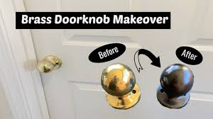 can i spray paint cabinet hinges brass doorknob makeover how to spray paint hardware