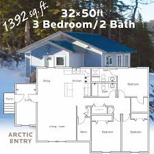 3 bedroom 2 bathroom house 32 x 50 3 bedroom 2 bath home with arctic entry freight zone 2