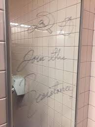 The Range Bathroom Mirrors by Student Erases Graffiti On Bathroom Mirrors And Calls Out