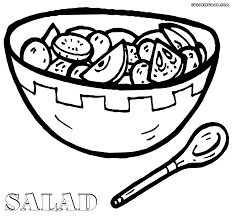 salad coloring pages coloring pages to download and print