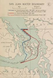 Map Of San Juan Islands The Contested Northern Border Farther Afield
