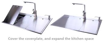 Space Saving Kitchen Sinks by New 3d Three Kitchen Sink Hidden Space Saving 304 Stainless Steel