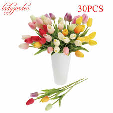 Decorative Flowers For Home by Online Get Cheap Plastic Tulips Aliexpress Com Alibaba Group