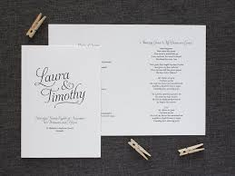 Simple Wedding Program Navy Blue Simple Script Order Of Service Be My Guest