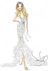 drew barrymore u0027s wedding dress designer sketches wedding