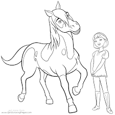 spirit riding free coloring pages getcoloringpages com