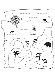 coloriage carte tresor pirate