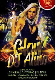 free download glow dj alina free psd photoshop flyer template