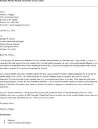 mental health counselor cover letter community mental health