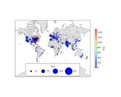 Python Map Example Point Size Legends In Matplotlib And Basemap Plots