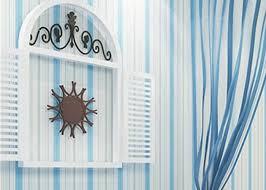 kids bedroom wallpaper vinyl blue and white striped wallpaper