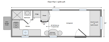 floor plan couch standard tiny home wind river tiny homes