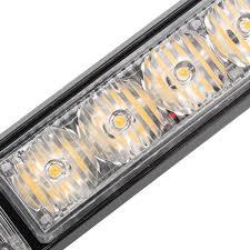 warning light bar amber 144w 6000k car strobe beacon l led emergency warning light bar