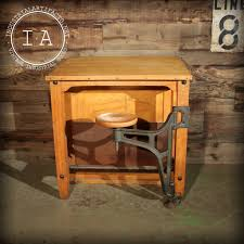 Drafting Table Stools by Vintage Maple Swing Arm Stool Drafting Table U2013 Industrial Artifacts